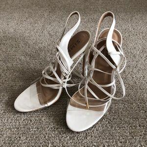 Simmi London Shoes - Simmi Ella white clear lace up heel